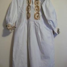 CT35. CAMASA BARBATEASCA CU POALE - Costum populare, Marime: 30, Culoare: Alb