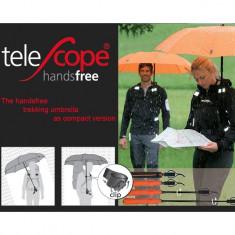 Umbrela Euroschirm Telescope Handsfree fara maini pentru aparat foto, GPS Portocaliu - Umbrela Dama