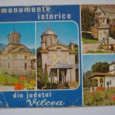 Carte  postala (Vedere )  -   Monumente  istorice  din  judetul  Valcea, Circulata, Fotografie