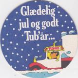 Suport de pahar / Biscuite TUBORG - Cartonas de colectie