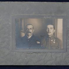 Poza II - Militari - cartonat - dimensiune mare - Fotografie veche