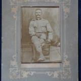 Poza - Militari - cartonat - dimensiune mare - Fotografie veche