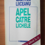 u1 Gabriel Liiceanu - Apel catre lichele
