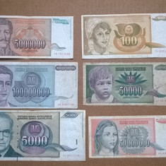 Set 6 bancnote Straine I