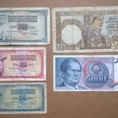 Set 5 bancnote Straine V