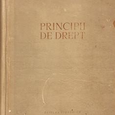 Principii de Drept*1958 - Carte Istoria dreptului