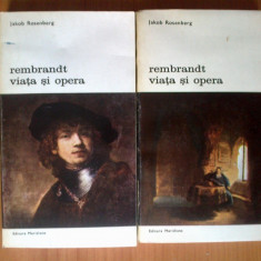 U1 Jakob Rosenberg - Rembrandt: viata si opera (2 volume)