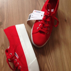 Vand tenisi SUPERGA ACOTW linea up and down - Tenisi dama Superga, Culoare: Rosu, Marime: 38, 38.5, 39, Rosu, Marime: 38