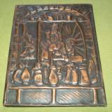 metaloplastie scena berarie (cupru)
