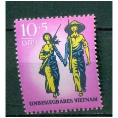 Germania DDR 1969. Ajutor pentru Vietnam -nestampilat - dantelat - Timbre straine