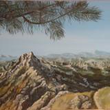 """Peisaj montan""-pictura, Peisaje, Realism"