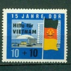Germania DDR 1965.Ajutor pentru Vietnam -nestampilat - dantelat - Timbre straine