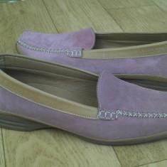 Pantofi din piele firma Gabor marimea 39, sunt noi! - Pantof dama Gabor, Culoare: Roz, Cu talpa joasa