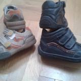 INCALTAMINTE BAIETI MAR 27 - Adidasi copii, Culoare: Coniac, Negru, Piele naturala
