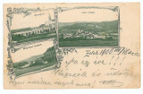 999 -  L i t h o, Salaj, ZALAU - old postcard - used - 1900, Circulata, Printata