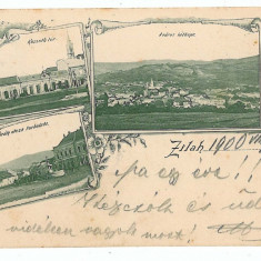 999 - L i t h o, Salaj, ZALAU - old postcard - used - 1900 - Carte Postala Crisana pana la 1904, Circulata, Printata