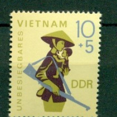 Germania DDR 1968. Ajutor pentru Vietnam -nestampilat - dantelat - Timbre straine