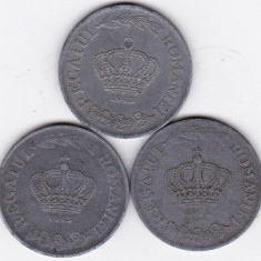 3)LOT serie COMPLETA 20 lei 1942 1943 1944 - Moneda Romania
