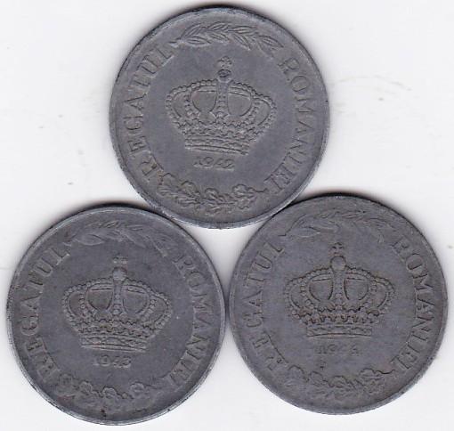 3)LOT serie COMPLETA 20 lei 1942 1943 1944