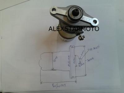 ELECTROMOTOR GY50 -REX / RIEJU -4T /4TIMPI (50-80CC) foto