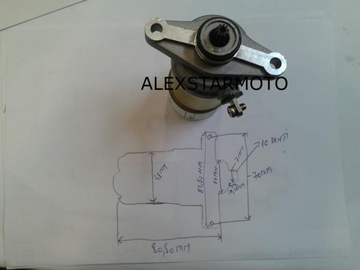 ELECTROMOTOR GY50 -REX / RIEJU -4T /4TIMPI (50-80CC)