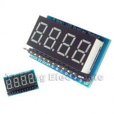 4-Digit 8 Paragraph LED Display Board Parallel Digital Tube Display Module (FS00240)