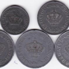 4) LOT serie COMPLETA 1941-1944: 2 lei 1941 5 lei 1942 si 20 lei 1942 1943 1944 - Moneda Romania
