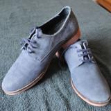 Pantofi Zara Marimea 42 Piele Intoarsa Albastrii