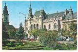 #carte postala(ilustrata) -ORADEA-Biblioteca centrala, Circulata, Printata