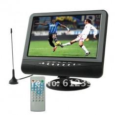 COMBO BOX, TELEVIZOR +mp4 +MP3, 9.8 INCH CU antena, BOXE, CITITOR STICK USB, CARD, ADAPTOR AUTO SI 220V.telecomanda full control. - Televizor LCD