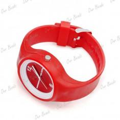 Ceas fete - marca SS.COM - carcasa rosie silicon - Ceas dama, Analog