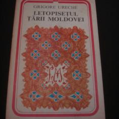 GRIGORE URECHE - LETOPISETUL TARII MOLDOVEI {1978} - Roman