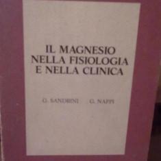 G. Sandrini si G. Nappi - Il magnesio nella fisiologia e nella clinica - Carte in spaniola