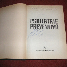 Psihiatrie preventiva - V. Angheluta, s.a. - Carte Psihiatrie