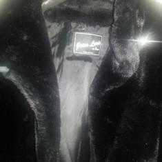 Palton Dama Jean Louis de Paris (blana sintetica), Marime: XL, Culoare: Negru, Vascoza