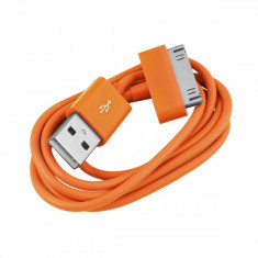 Cablu USB Apple iPod Nano Classic Touch iPhone 2G 3G 3GS 4 4S Orange