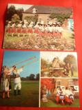 2 Ilustrate: Ansamblu de Dans Olandez in Costume Nationale Romanesti