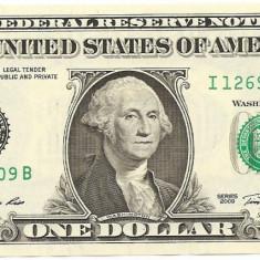 Statele Unite (SUA) 1 Dolar 2009 ( I - Minneapolis MN, Signatures: Gumataotao Rios & Geithner ) P-530 UNC !!!