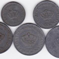 5) LOT serie COMPLETA 1941-1944: 2 lei 1941 5 lei 1942 si 20 lei 1942 1943 1944 - Moneda Romania