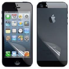Folie iPhone 5 5S Fata Spate Transparenta - Folie de protectie Apple, Lucioasa