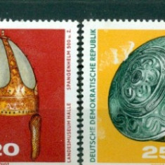 Germania DDR 1970. Descoperiri arheologice -serie de 4 val dantelata - nestampilata - Timbre straine