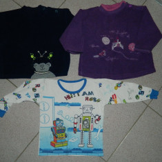 Set 3 bluze de casa, joaca pt copii, marimea 1-3 ani. COMANDA MINIMA 30 LEI!, Culoare: Albastru, Unisex