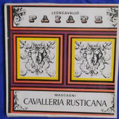 {DISC VINYL} LEONCAVALLO PAIATE - MASCAGNI - CAVALLERIA RUSTICANA (3 discuri, ELECTRECORD) - Muzica Clasica electrecord, VINIL