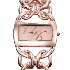 Ceas dama ALIAS KIM (SUA) by FOSSIL auriu roz gold lux elegant, quartz + cutie, Casual, Inox, Analog