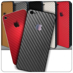 Colant sticker model carbon alb iphone 5 + folie protectie ecran + cablu date + expediere gratuita Posta - sell by Phonica