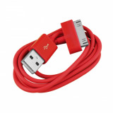 Cablu USB Apple iPod Nano Classic Touch iPhone 2G 3G 3GS 4 4S Red
