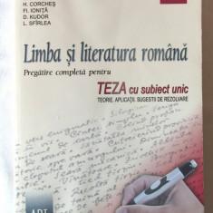 """""""LIMBA SI LITERATURA ROMANA. Pregatire completa pentru TEZA CU SUBIECT UNIC Clasa a VIII-a"""", A. Costache, E. Carstocea si altii, 2007, Art"""