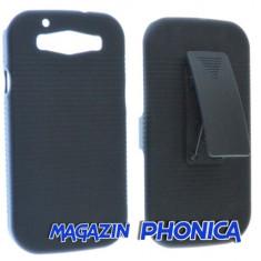Husa toc plastic cu prindere curea Samsung Galaxy S3 I9300 + folie ecran - Husa Telefon