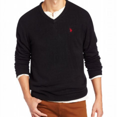 Pulovere US Polo Assn - Barbati - 100% original - Bej - Negru - Pulover barbati US Polo Assn, Marime: S/M, Anchior, Acril