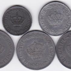 9)LOT serie COMPLETA 1941-1944: 2 lei 1941 5 lei 1942 si 20 lei 1942 1943 1944 - Moneda Romania
